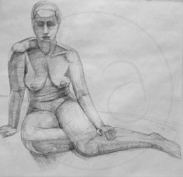 Female Long Pose (Graphite)